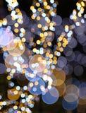 färgrika lampor för bokeh Arkivfoto