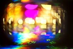 färgrika lampor för bokeh Royaltyfri Fotografi