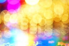 färgrika lampor för bokeh Royaltyfri Foto