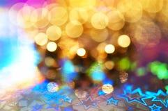 färgrika lampor för bokeh Royaltyfria Foton
