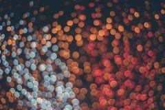 färgrika lampor för bokeh Royaltyfri Bild