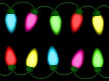 färgrika lampor för jul royaltyfri illustrationer