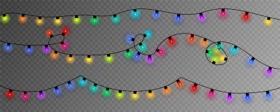 färgrika lampor för jul EPS10 vektor illustrationer