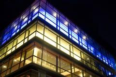 färgrika lampor för stad Royaltyfri Foto