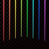 Färgrika laserstrålar Abstrakt laser rays all färg av regnbågen också vektor för coreldrawillustration stock illustrationer