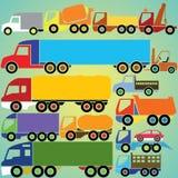 Färgrika lastbilsymboler Royaltyfri Fotografi