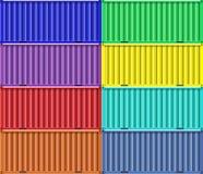 Färgrika lastsändningsbehållare vektor illustrationer