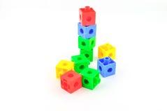 Färgrika legoleksakkvarter Fotografering för Bildbyråer