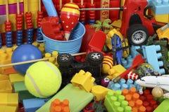 Färgrika leksaker Arkivbilder