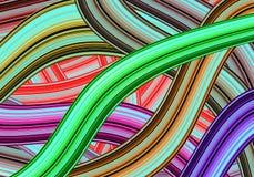färgrika linjer Royaltyfri Bild