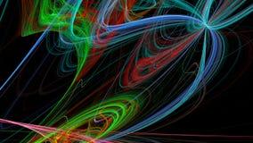 Färgrika linjer abstrakt bakgrund 3d Arkivbild