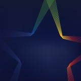 färgrika linjer formade stjärnan Royaltyfria Foton