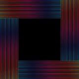 Färgrika linjer ram Arkivfoton