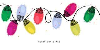 Färgrika ljusa kulor för jul med stjärnavektorbakgrund Royaltyfri Foto