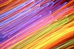 färgrika ljusa strimmor Arkivbilder