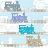 Färgrika lokomotiv för ånga vektor illustrationer