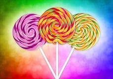 Färgrika lollypop Royaltyfri Fotografi