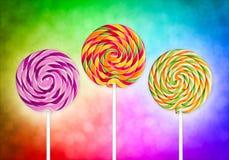 Färgrika lollypop Royaltyfria Bilder