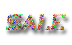Färgrika märka Sale Royaltyfri Fotografi