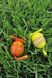 färgrika målade easter ägg Arkivfoton