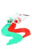 färgrika målarfärger s för konstnär arkivfoto