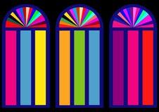 Färgrika målat glassfönster Royaltyfri Bild