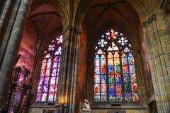 Färgrika målat glassfönster royaltyfria foton