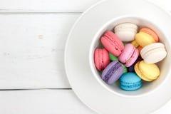 färgrika macarons Fotografering för Bildbyråer