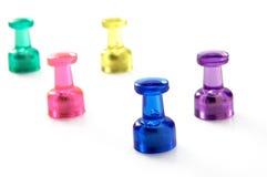 färgrika magneter Arkivbild