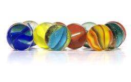 färgrika marmorar Royaltyfria Foton