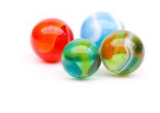 färgrika marmorar Arkivfoto