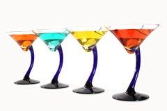 färgrika martinis Arkivbilder