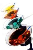 färgrika martinis Royaltyfri Foto
