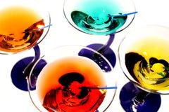 färgrika martinis Royaltyfria Bilder