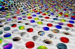 färgrika medicinal tablets vektor illustrationer