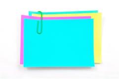 färgrika memoanmärkningar Arkivfoto
