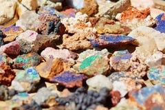 färgrika mineraler Royaltyfri Fotografi