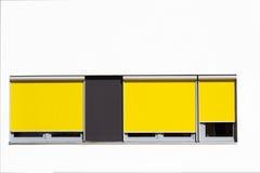 färgrika minimalistic fönster för arkitektur Royaltyfri Bild