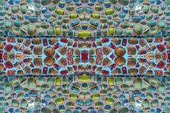Färgrika modeller av mosaiker Fotografering för Bildbyråer