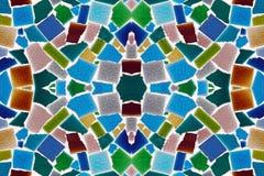Färgrika modeller av tegelplattor Arkivfoton
