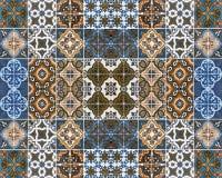 Färgrika modeller av tegelplattor Arkivbilder