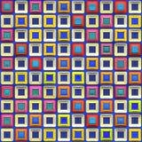 färgrika modellfyrkanter stock illustrationer