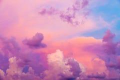 Färgrika moln Fotografering för Bildbyråer