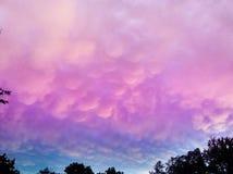 Färgrika moln Royaltyfria Bilder