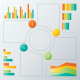 Färgrika momentInfographics beståndsdelar Arkivbilder