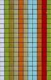 färgrika mosaiktegelplattor Arkivfoto
