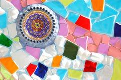 färgrika mosaiktegelplattor Royaltyfri Fotografi