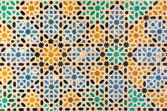 färgrika mosaiktegelplattor Royaltyfri Bild