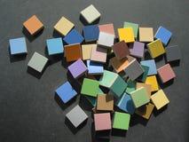 färgrika mosaiktegelplattor arkivbild
