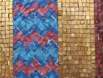 färgrika mosaiktegelplattor Arkivfoton